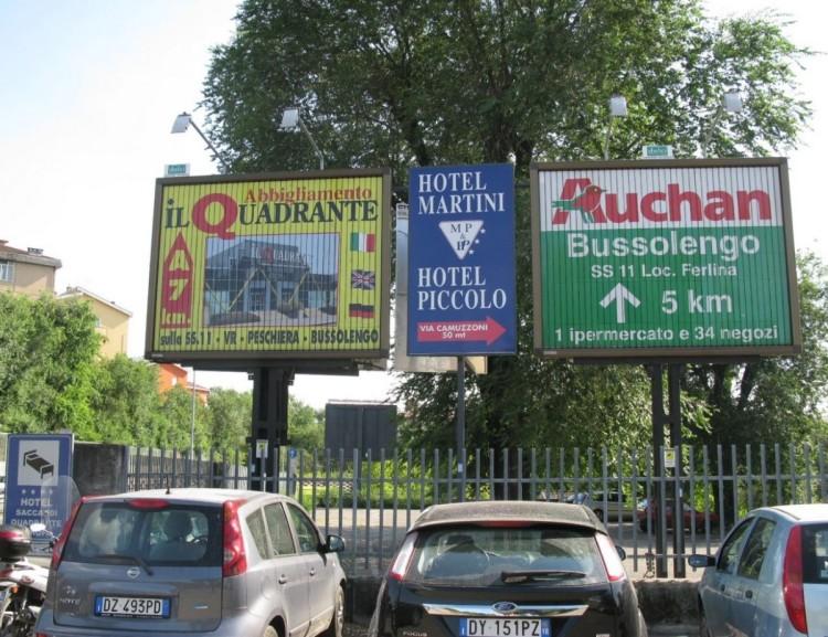 Pubblicità permanente e temporanea a Verona, Vicenza, Mantova