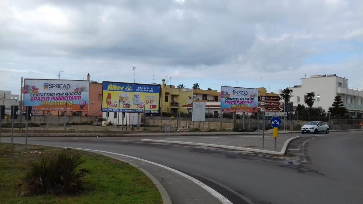 Affissioni poster Porto Cesareo e Torre Lapillo